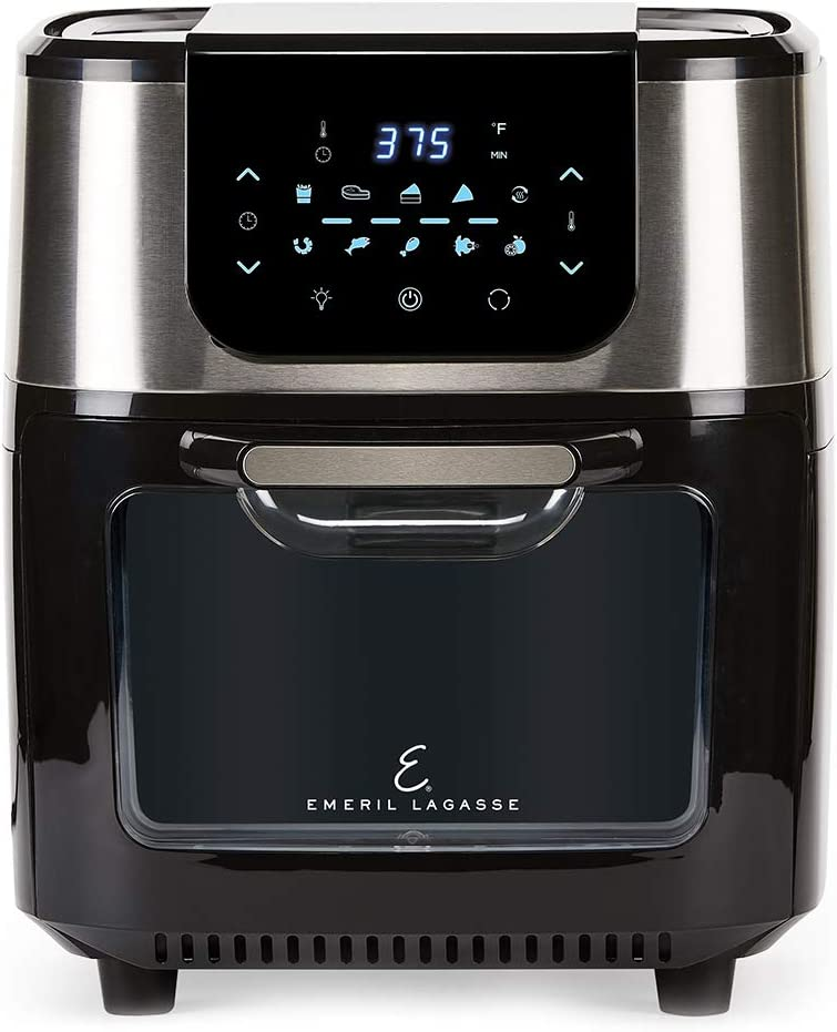Emeril Everyday Emeril Lagasse AirFryer Pro with Rotisserie and Dehydrate, 6 Quart, Black and Stainless Finish