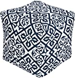 Surya Contemporary Square pouf/ottoman 18''x18''x18'' in Blue Color From Surya Poufs Collection
