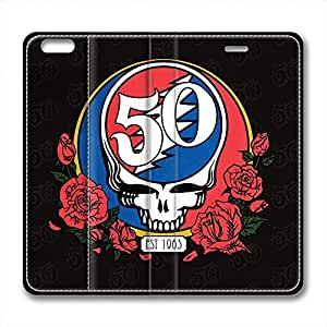 iCustomonline Grateful Dead Personalized Leather Case for iPhone 6 Plus( 5.5 inch) by mcsharks