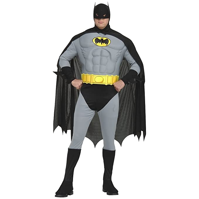 Amazon.com: Adult Plus Size Batman Costume - PL: Clothing
