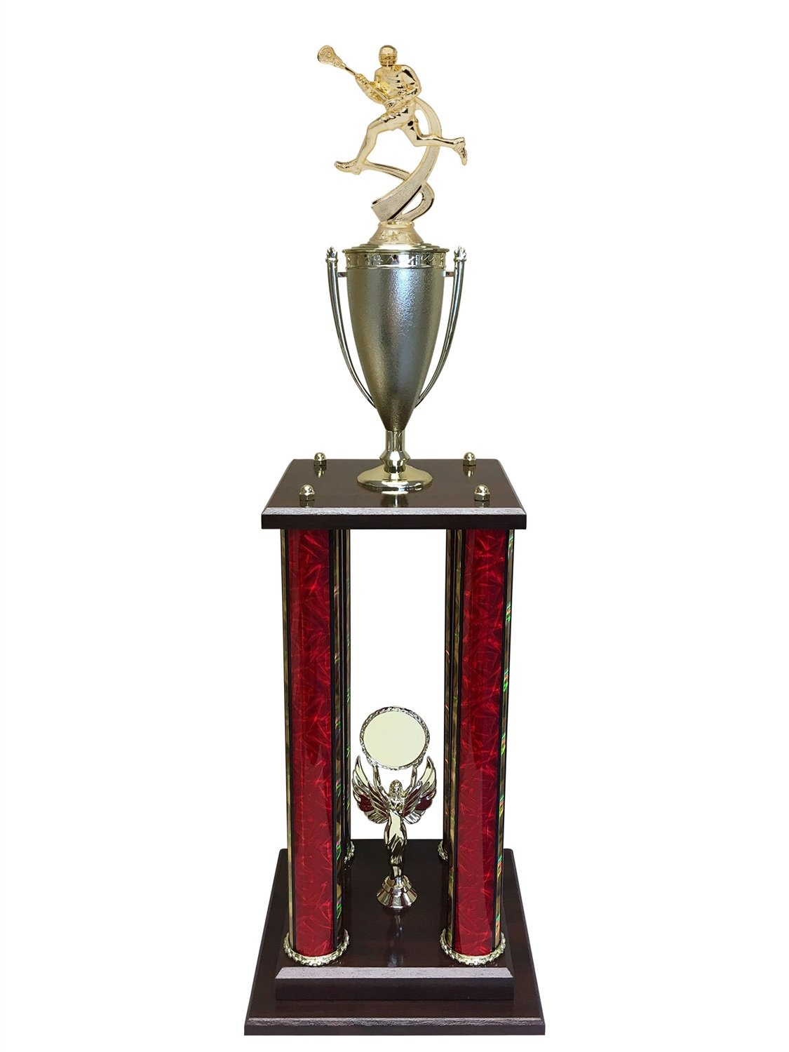 Express Medals 4 Column 30'' Male Lacrosse Trophy - Pinnacle