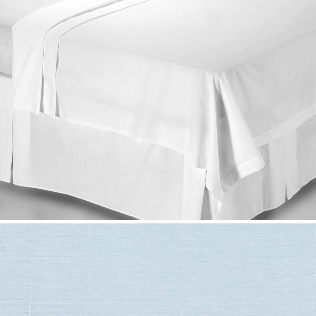 200tc Egyptian Cotton Flat Sheet King Size in Ocean Blue