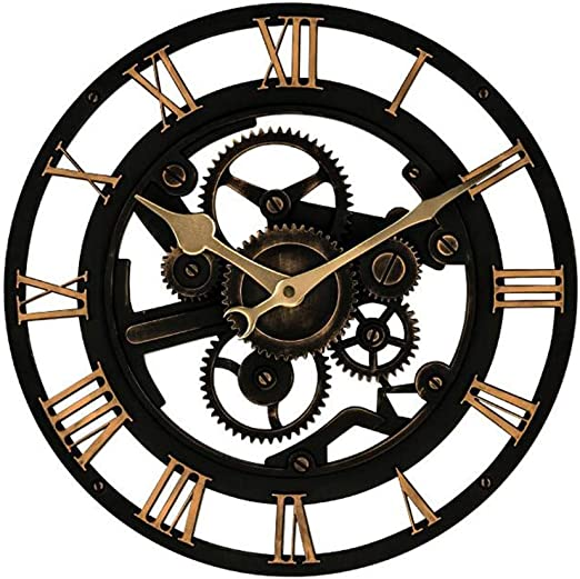 MWPO Reloj Retro Europeo montado en la Pared Bicicleta Creativa ...