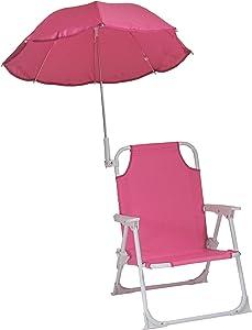 Redmon Beach Baby Umbrella Chair, Hot Pink