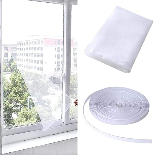 Insect Screen Window Netting Fly Bug Wasp Mosquito Curtain Mesh Net Cover New NB