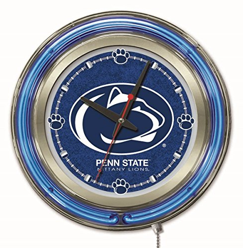 ions HBS Neon Blue College Battery Powered Wall Clock (15