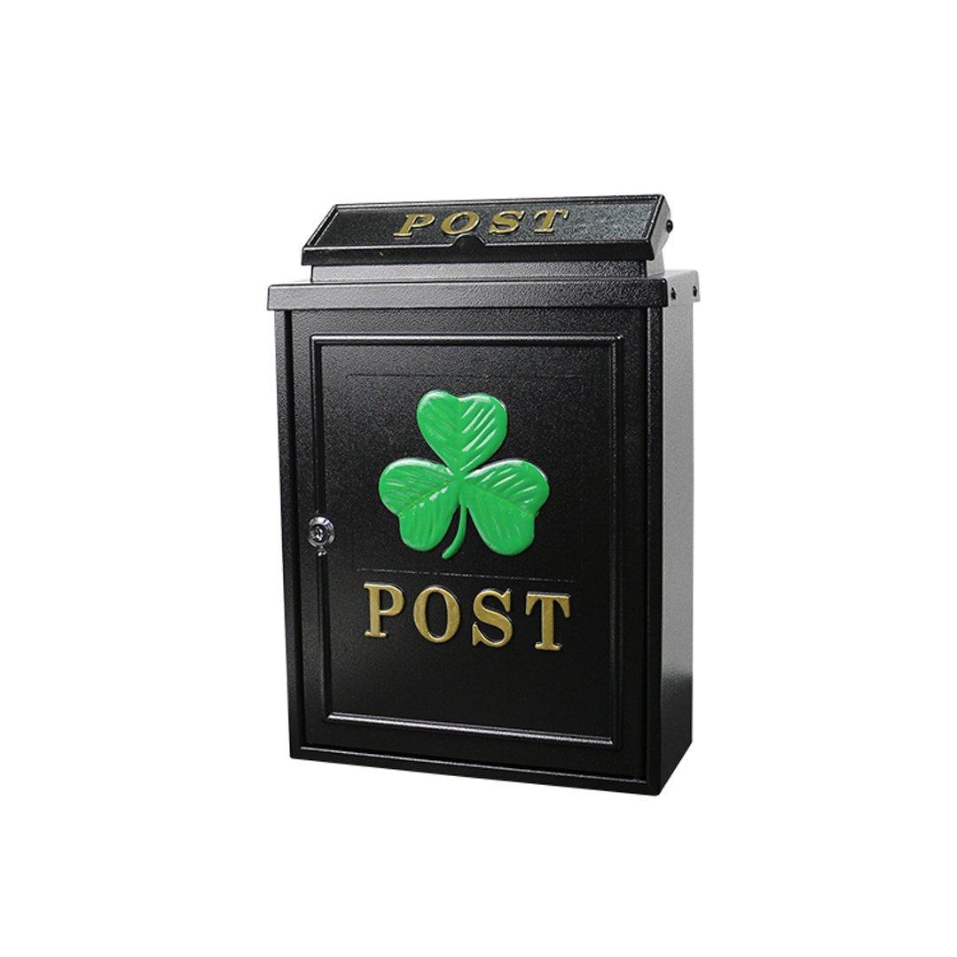 HZB クリエイティブヨーロッパの郵便箱ヴィラガーデンルーム外壁マウントレインフォールレターボックス、クローバーパターン   B07H85BNDQ