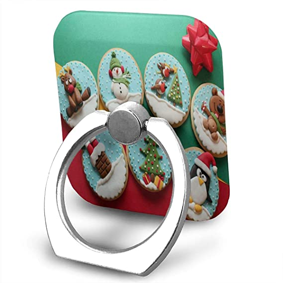 Decorated Christmas Cookies.Amazon Com Nmceo Cell Phone Finger Ring Stand Decorated