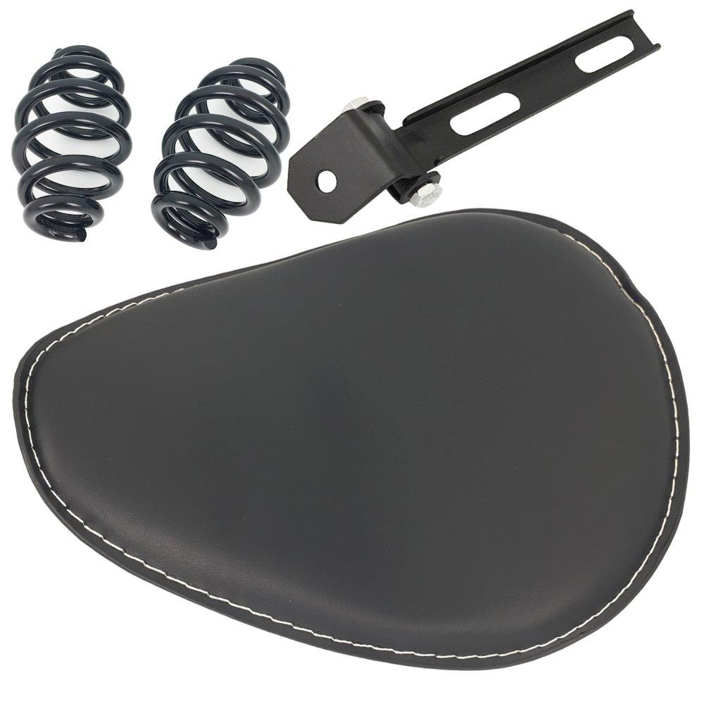 Black 3'' Solo Seat Spring Brackets Mount Kit For Harley Bobber Chopper Sportster Custom