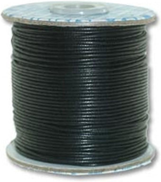 Creative-Beads - Cordón de algodón encerado para pulseras, collares, etc., 1 mm, color negro 90m Rolle Negro: Amazon.es: Hogar