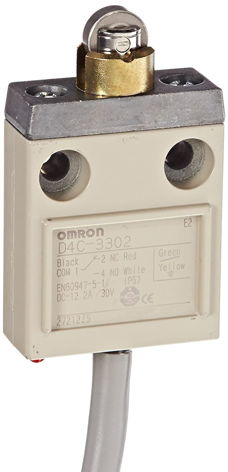 VCTF Oil Resitant Cable 5m Cable Length final carrera ind. Roller Plunger 0.1A at 30VDC Rated Current Omron D4C-3302 Compact Enclosed Limit Switch