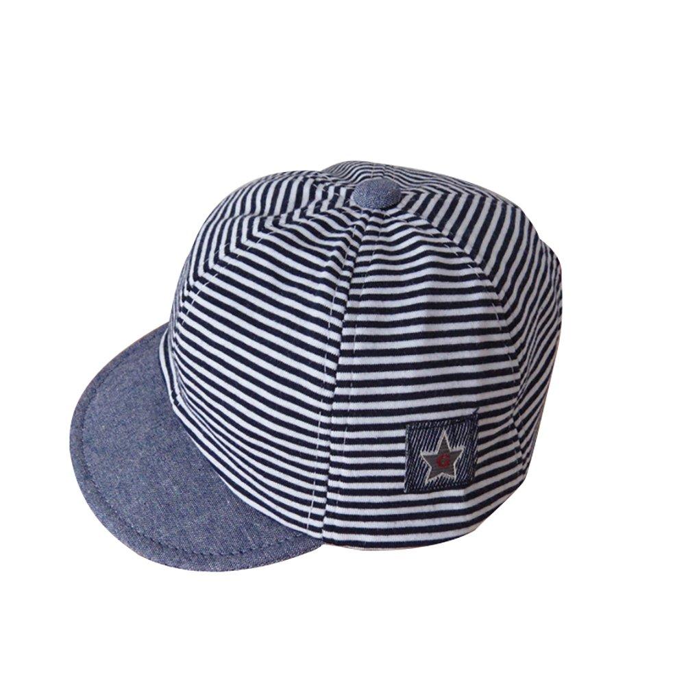 ink2055 Kids Hats Baby Kids Boys Girls Fashion Stripe Star Decor Cotton Soft Beret Hat Sun Cap Hat
