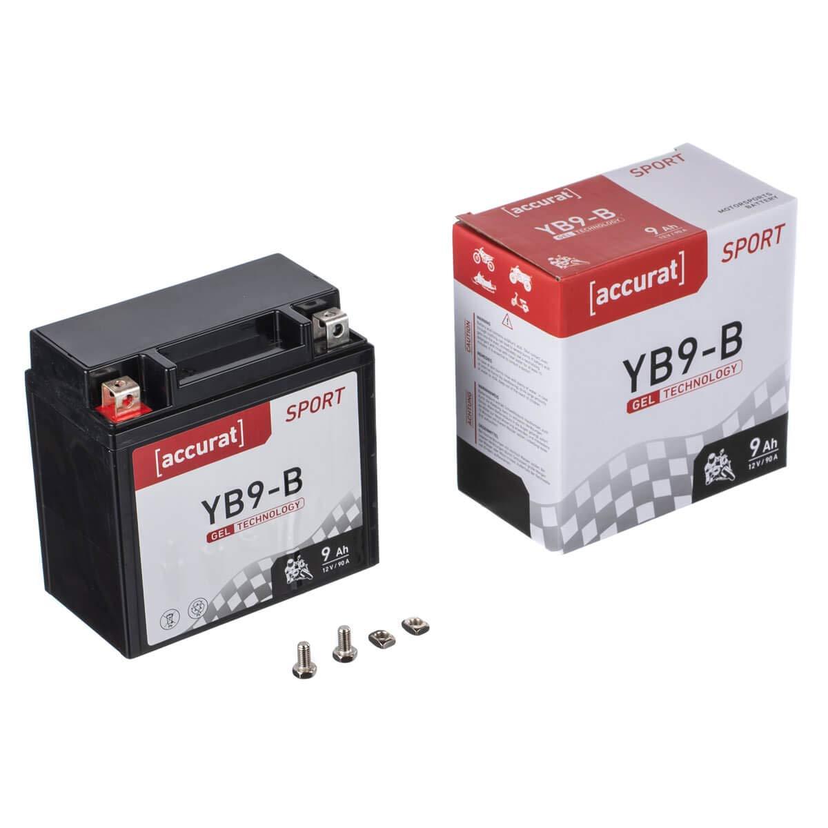 Accurat Motorradbatterie YTX14-BS 14Ah 200A 12V Gel Technologie Starterbatterie in Erstausr/üsterqualit/ät zyklenfest sicher lagerf/ähig wartungsfrei