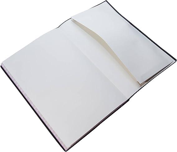 Premium Ivoire Papier 100g//m/² couverture en cuir PU poche int/érieure extensible et 2 signets 80 feuilles 160 pages 7 x 10 Inch Dotted Bullet Journal // Carnet Pointill/é Taille B5