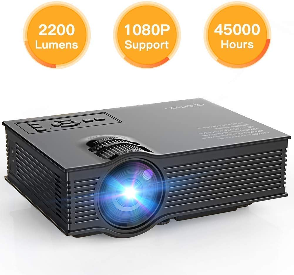 APEMAN Proyector, Multimedia Vídeo Proyector LCD, con 1200 Lúmenes ...