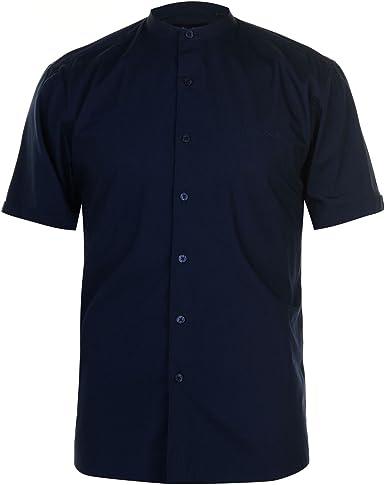 Pierre Cardin Hombre Grandad Camisa Manga Corta Cuello Mao Azul Marino XXXL: Amazon.es: Ropa y accesorios