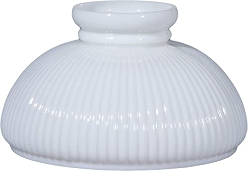 B P Lamp 10 Opal Glass Student Shade, Low Top