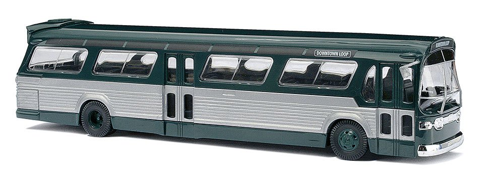 Busch 44500 Fishbowl Bus Grn//Slv HO Scale Vehicle