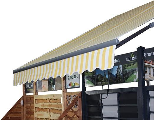 AVANTI TRENDSTORE - Toldo para balcones blanco/amarillo 295 x 250 ...
