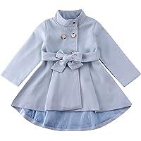 Carolilly - Chaqueta de manga larga para bebé y niña, color liso