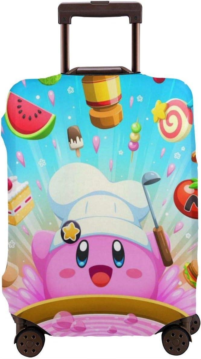 Funda para Equipaje de Viaje Chef Kirby Super Smash Bros, Fundas para Maletas de Cocina Divertidas Fundas Protectoras con Cremallera Lavable para Equipaje de 29 a 32 Pulgadas