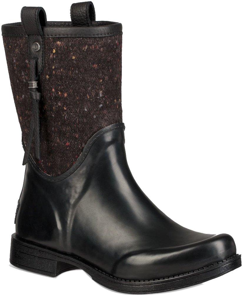 UGG Womens Stephanson Rain Boot Black Size 7
