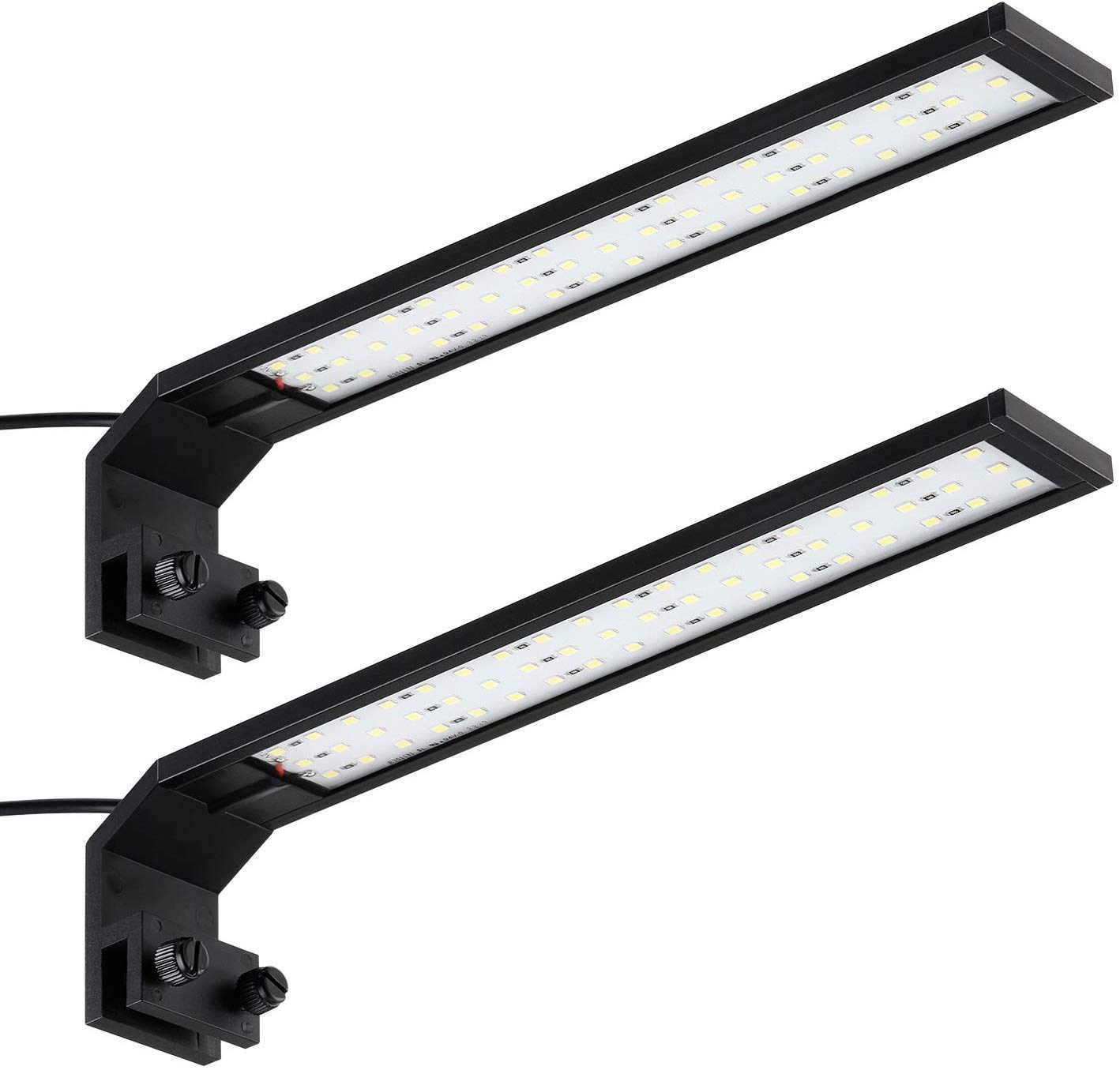 TORCHSTAR LED Aquarium Light, 400lm Ultra Bright Fish Tank Light with Adjustable Clip, IP65 Waterproof Rating, for Freshwater AquariumPlants, Indoor Water Garden, Pack of 2