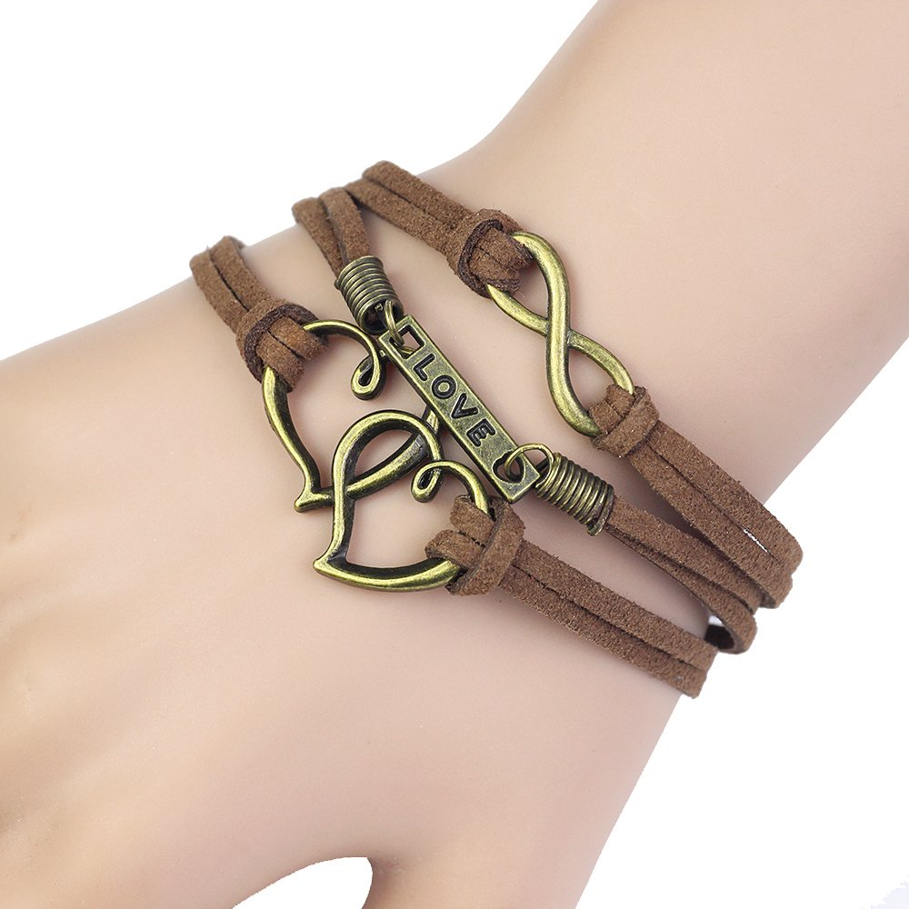 Leather Rope Infinity Bracelet...