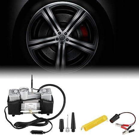 Fydun Cilindro gonfiabile del compressore del compressore della pompa di aria dellautomobile della gomma 150PSI 50L Min della gomma con il manometro
