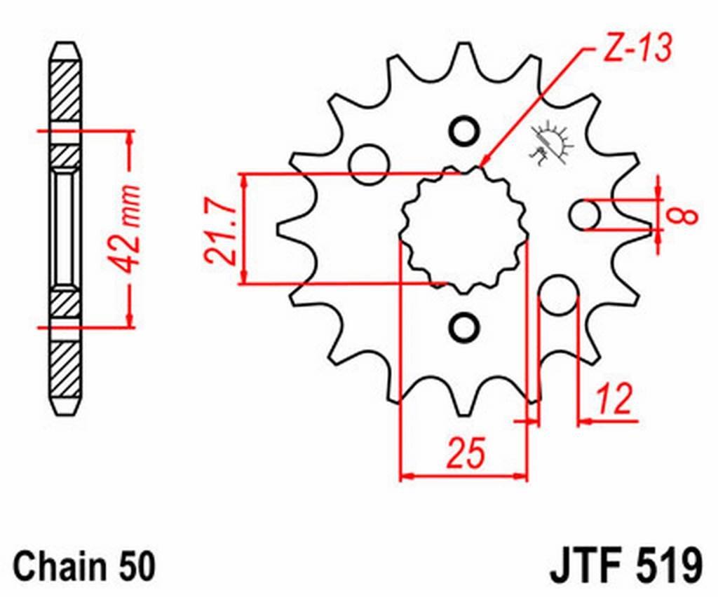 JT - F51915 : Piñon ataque transmision delantero: Amazon.es ...