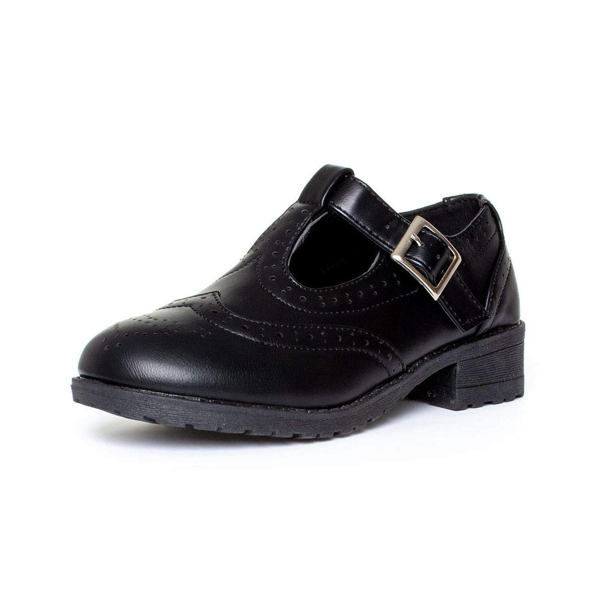 Lilley Girls Lace Up Brogue Shoe in Black Sizes 10,11,12,13,1,2,3,4,5,6