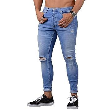 fe65facdeaee9 Btruely Herren Hosen Demin Jogger Jeans Slim Fit Mode Hiphop ...