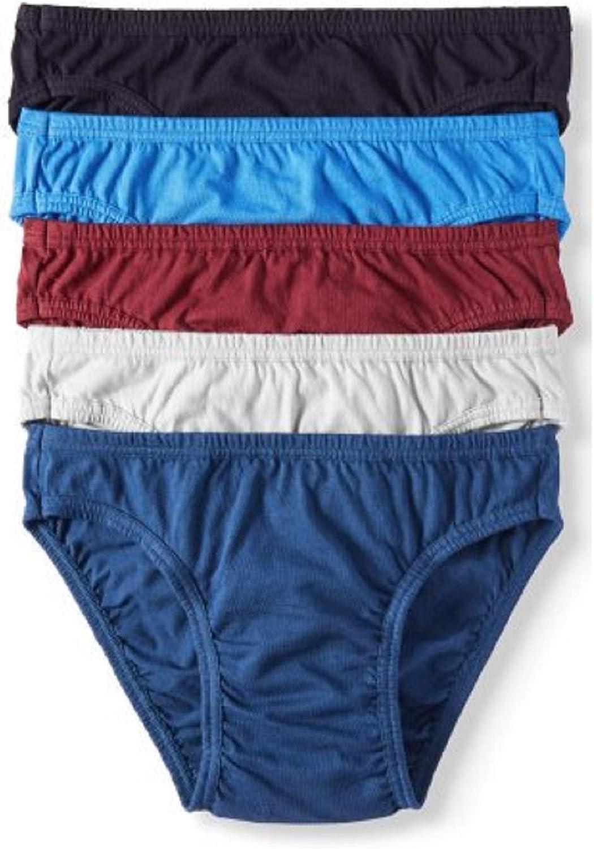 Jockey Life 5-Pack Men's 24/7 Comfort 100% Cotton Bikinis - Assorted