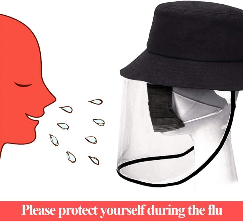 MoneRffi Mujeres Hombres Gorra Protectora Anti-Saliva Aislamiento Anti-Saliva Sombrero De Todo el Cara Protector Cap Windproof Sombrero Anti-Fog