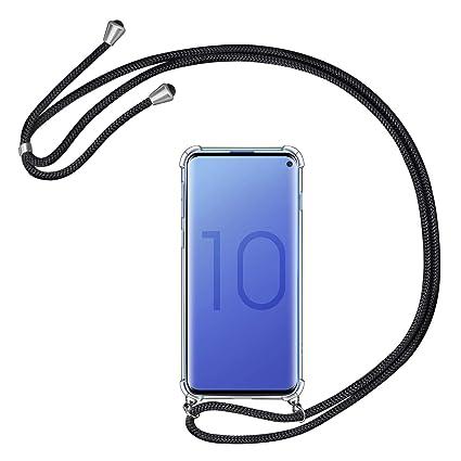 AROYI Funda para Samsung Galaxy S10 Silicona con Cuerda ...