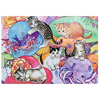 JUGROUPE 1000 Pieces Large Jigsaw Puzzles for Adults, 30×20 Inch Puzzles for Children and Teens Ages 12 and up, Difficult Puzzle Art for Men and Women (Cat)