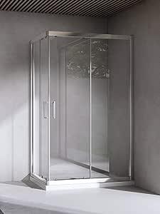 Yellowshop-Box - Mampara de ducha o baño, rectangular. Tamaño: 70 x 90 cm, cristal 6 mm. Color transparente, transparente: Amazon.es: Bricolaje y herramientas