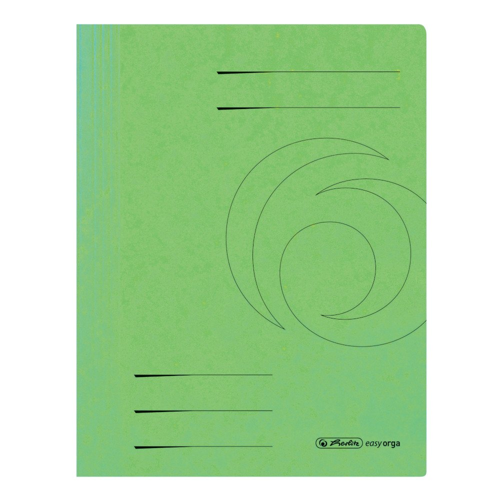 Herlitz File Folder A4,Commercial and Authority Filing, Colorspan, Pack of 25 Light Green