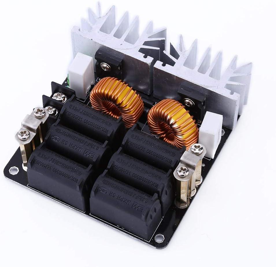 Module de Chauffage par Induction ZVS Basse Tension Alimentation Panneau Vhauffant Machine /à Chaleur /à Haute Fr/équence Pilote 12V-48V 20A 1000W Avec Bobine en Laiton pour Bricolage Domestique