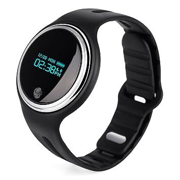 Montre Connectée, NICEAO Bluetooth Smartwatch étanche OLED Écran Tactile Bracelet Fitness Tracker avec Pédomètre,