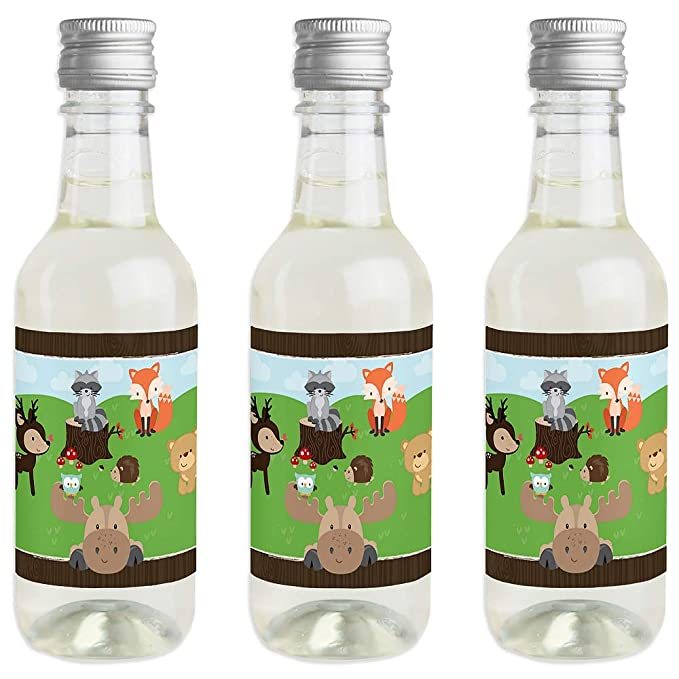 Woodland Creatures - Juego de 24 pegatinas para botella de vino y champán: Amazon.es: Hogar