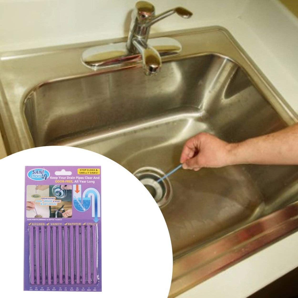 Lorenlli 12 St/ück Abflussreiniger Familie Rohre Reinigungsst/äbe Abwasser Cecontamination Stick Deodorant Sanit/ärst/öcke Kanalreinigungsst/äbe