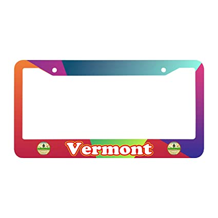 Amazon.com: VERMONT With City Logo Customized Car Tag License Plate ...