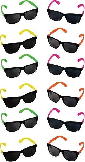 Rhode Island Novelty neón 80 de Estilo Fiesta Gafas de Sol ...
