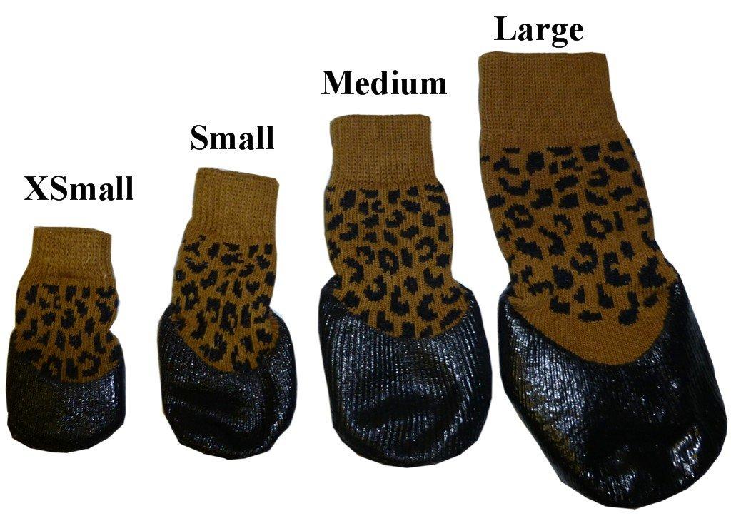 HDP Botas de calcetines de goma impermeable Juego de 4: Amazon.es: Productos para mascotas