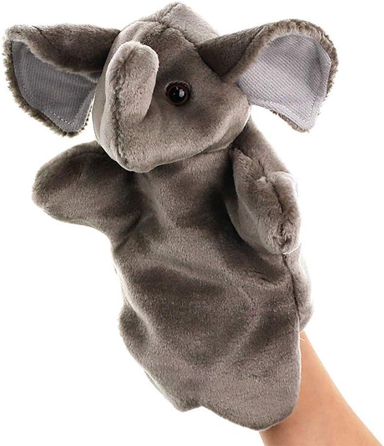 Chiodr Marionetas de Mano Marionetas de Mano Juguetes Blandos de Elefantes Juguetes de muñecas de Felpa for niños Jugar Toy Toy Toy Story Props Marionetas de Peluche