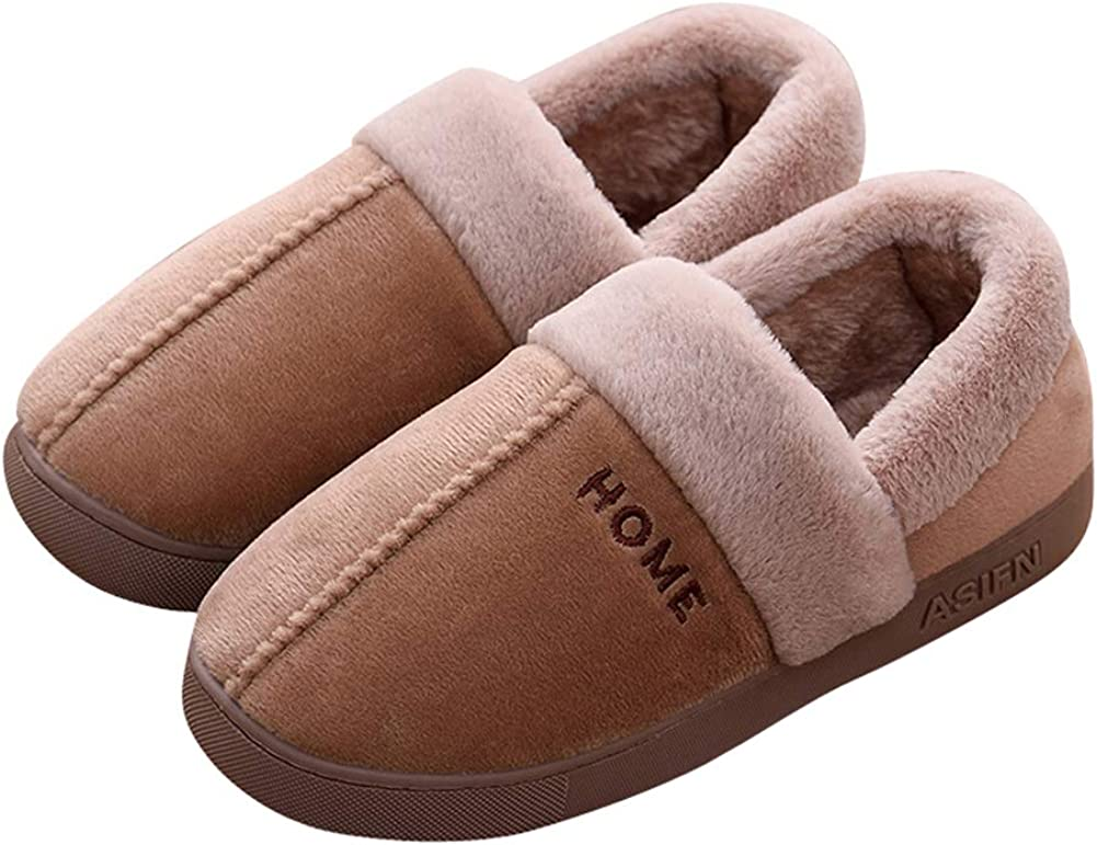 Tuoup Mens Anti-Skid Fuzzy Thermal House Outdoor Bootie Slippers Boots