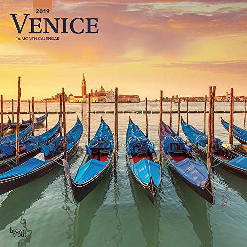 Italy Square - Venice 2019 12 x 12 Inch Monthly Square Wall Calendar, Scenic Travel Europe Italy