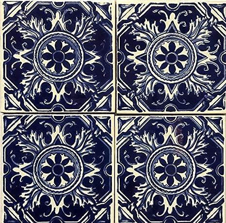 Amazon.com: Talavera azulejos tamaño grande 6 x 6 colorido ...