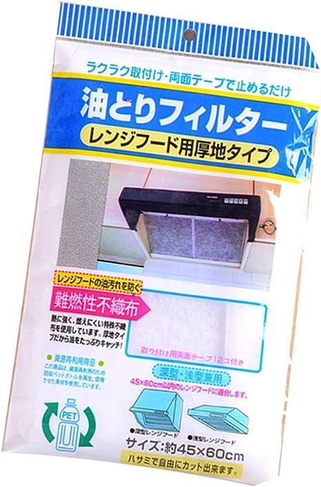 Uso Universal Cocina Papel absorbente No tejido Anti Aceite Filtros de algodón Campana extractora Extractor Filtro de ventilador (blanco) ESjasnyfall: Amazon.es: Grandes electrodomésticos